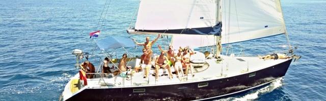 Tagesausflug auf einer Segelyacht