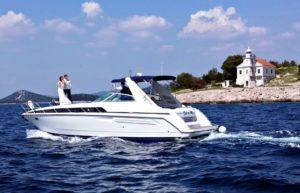yacht luxus-yacht hochzeit brautpaar